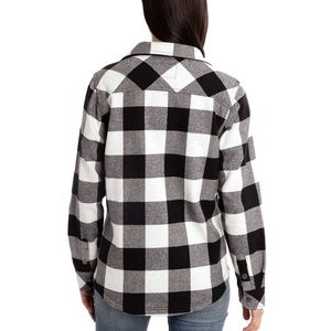 0e221a9f13 Orvis Tops - Orvis Ladies  Flannel Shirt Jacket Large L Black